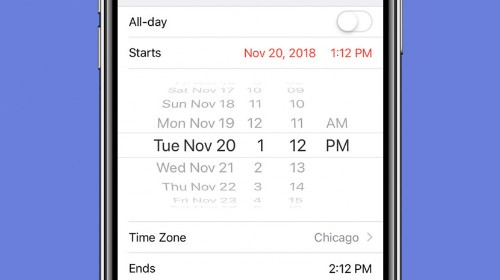 How to Set Precise Times More Quickly in the iPhone Calendar App
