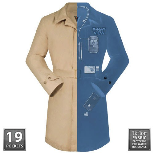 SCOTTEVEST Trench Coat Transforms You into Inspector Gadget