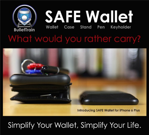 Do Away With Your Wallet With the SAFE Wallet Case
