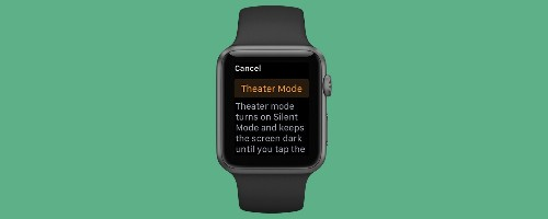 How to Keep Your Apple Watch from Disturbing Your Movie