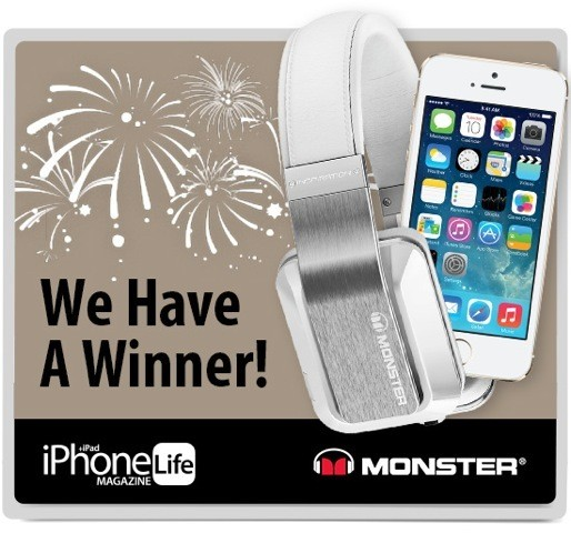 We Have a Winner! Find out Who Won the Gold iPhone 5s - Monster Headphones Giveaway