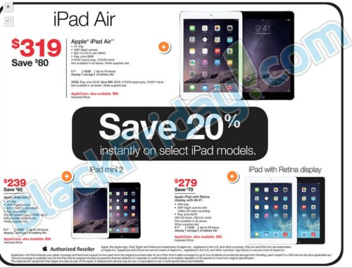 Black Friday Deals at Staples Include iPad Air for $319