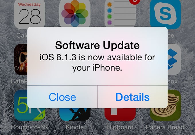 iOS 8.1.3 Update Makes Updates Easier