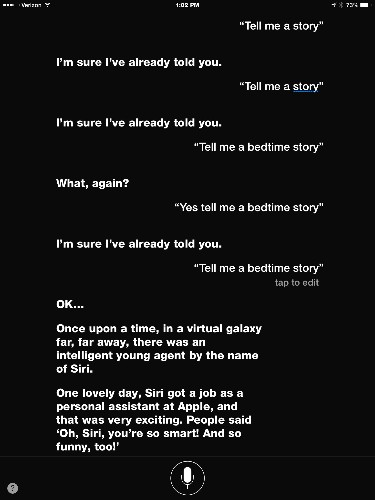 Tip of the Day: Have Siri Tell You a Story