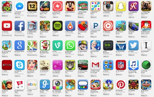 Lists of Best Apps for 2013