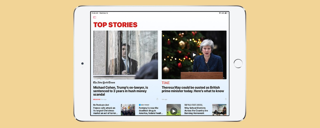 How to Hide the Sidebar in the iPad News App When in Landscape Mode