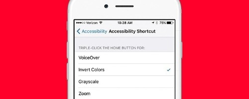 How to Quickly Invert Colors for iPhone Use in Low-Light Situations