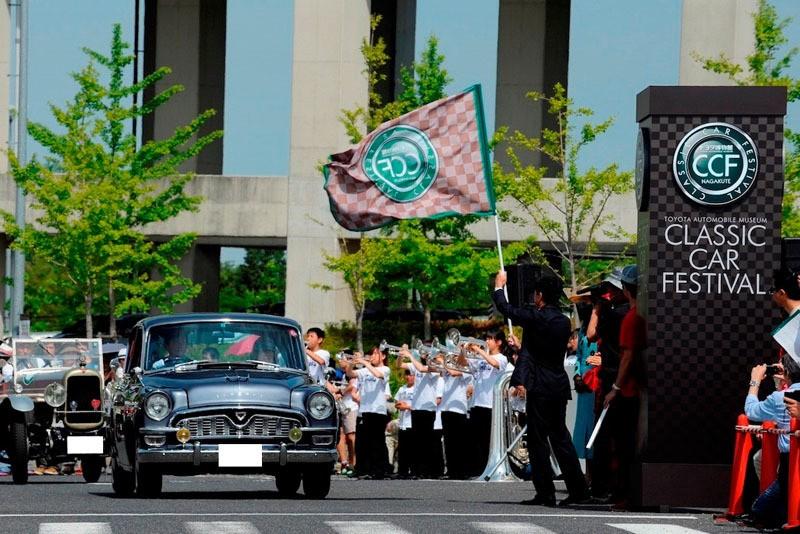 日米欧クラシックカーが公道パレード トヨタ博物館