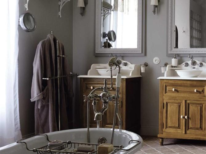 Le charme du rétro dans la salle de bains - Elle Décoration