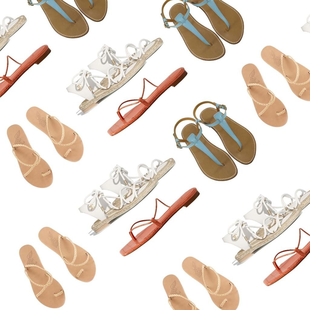 Les plus belles sandales plates de l'été - Elle