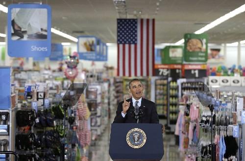 Obama's Wal-Mart stop prompts labor backlash
