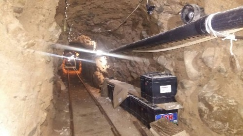 Raid on U.S.-Mexico drug tunnel: 22 arrests, at least 12 tons of pot seized