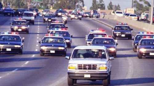 TV news chopper spotted O.J. Simpson's white Bronco, and the chase was on
