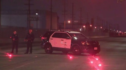 LAPD officer wounded in South L.A. shooting after traffic stop