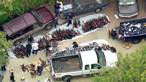Massive cache of 1,000 guns seized from Bel-Air mansion during ATF raid