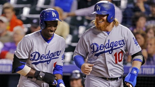 Dodgers' Dee Gordon, Justin Turner are living the postseason dream - Los Angeles Times