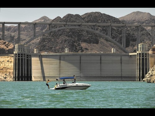 Hoover Dam, an engineering marvel, is surrounded by natural wonders