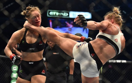 Ronda Rousey says she'll fight again, but Holly Holm may want a bout in the meantime - Los Angeles Times