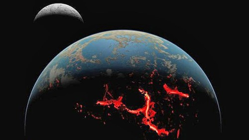 Rain of asteroids melted early Earth, boiled its oceans, study shows