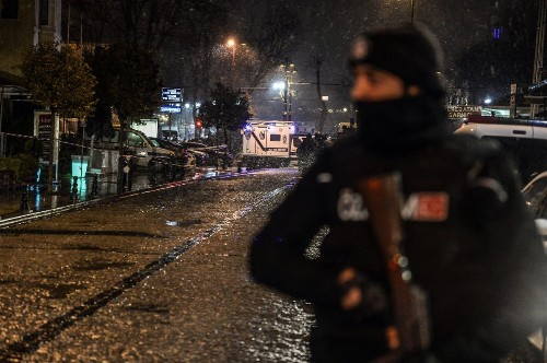 Police officer dies after woman sets off suicide bomb in Istanbul