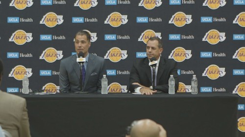 Rob Pelinka on Magic Johnson's comments: 'They're simply not true'