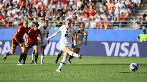 Women's World Cup recap: U.S. beats Spain 2-1 on a pair of Megan Rapinoe goals