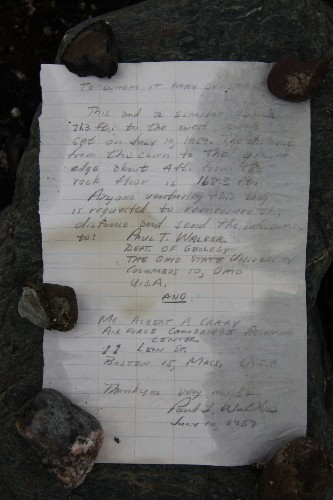 Message in a bottle found 54 years later in Arctic