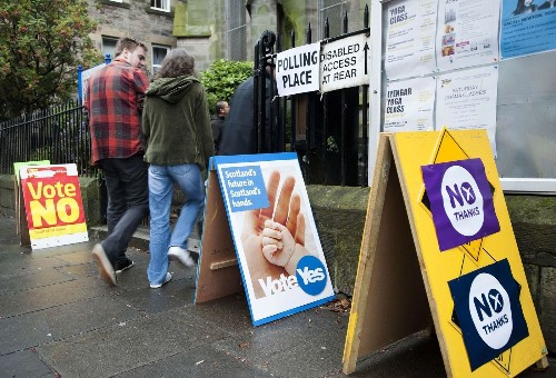 Scotland a flurry of last-minute campaigning for independence vote