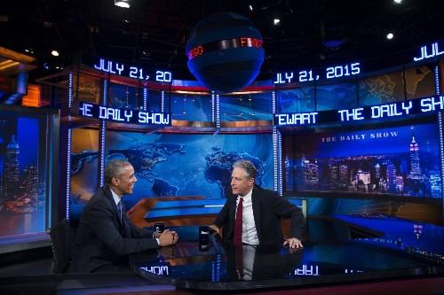 When Barack Obama met Jon Stewart: A love story - Los Angeles Times