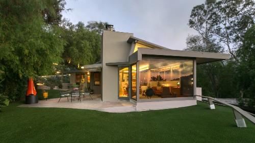 Restored International Modern home in Studio City is classic Schindler