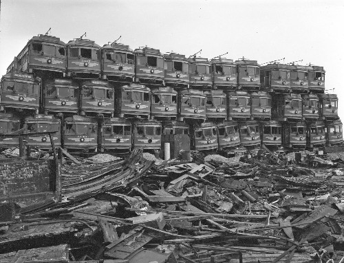 Tracking the slow decline of the Pacific Electric Railway Red Cars