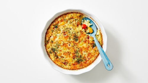 The Saturday Cook: Cherry tomatoes star in a savory custard for a post-farmers market brunch