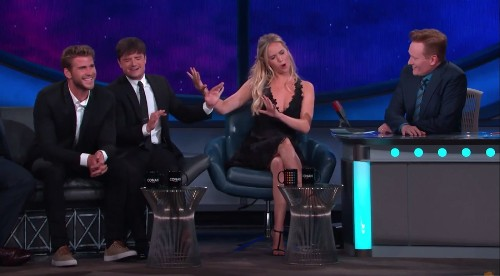 What fear of singing? Jennifer Lawrence does a mean Cher impression on 'Conan' - Los Angeles Times