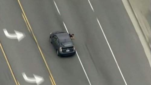 Police ID man and woman arrested after Friday's wild car chase and gun battle in L.A. County