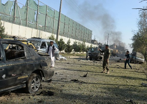 Taliban bomb kills 3 soldiers in NATO convoy; another shot elsewhere