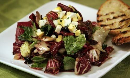 Recipe: Grilled radicchio and romaine chopped salad