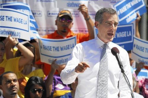 Garcetti calls for $13.25 minimum wage by 2017