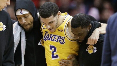 Lakers guard Lonzo Ball is frustrated but understands why his season is over