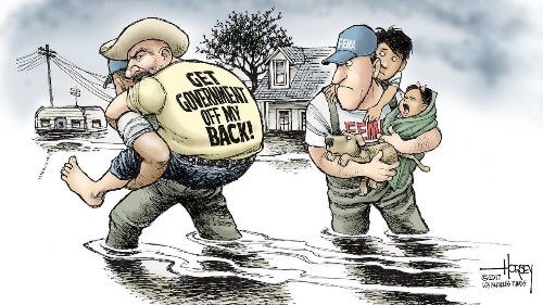 Hurricane Harvey offers lessons Republicans will probably ignore
