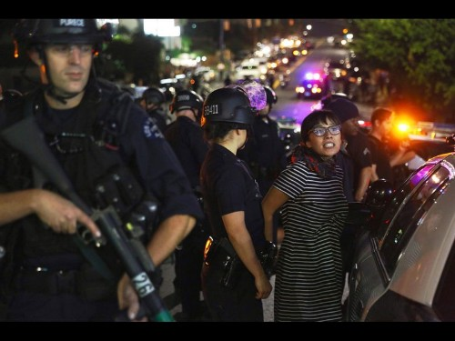 183 arrested during Ferguson protests in downtown L.A. - Los Angeles Times