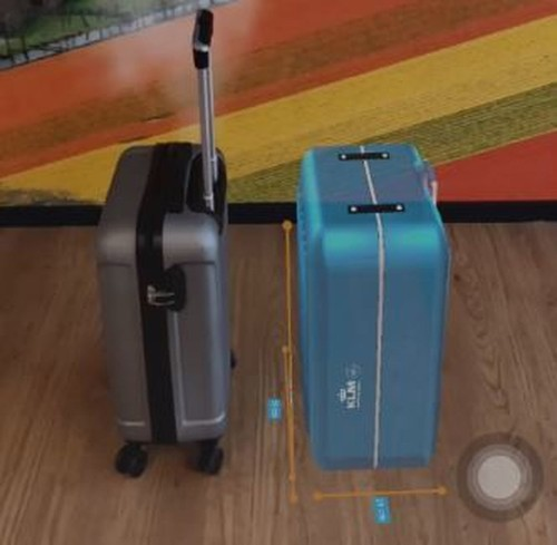Can 'augmented reality' help you check the size of your carry-on bag?