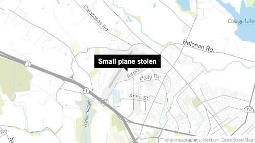 Central California police believe missing man stole airplane
