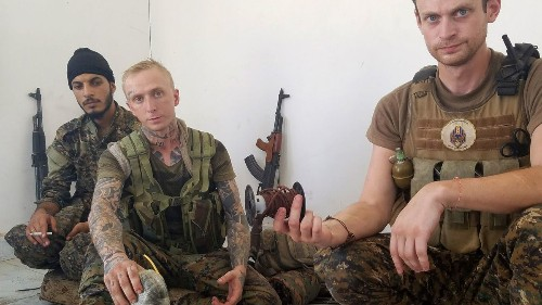 Two buddies survived fighting Islamic State, but for one civilian life was too much