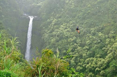 Hawaii: Big Island's Akaka Falls zipline gives you a post-trip chill