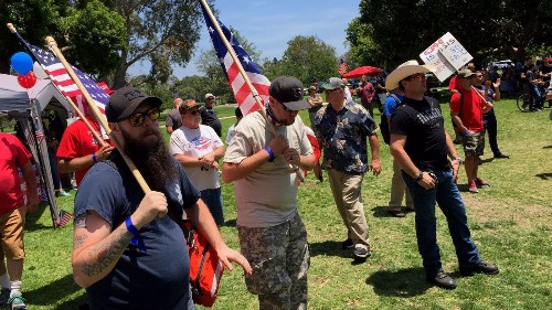 Trump supporters gather in Orange County, launch rally with picnic in the park