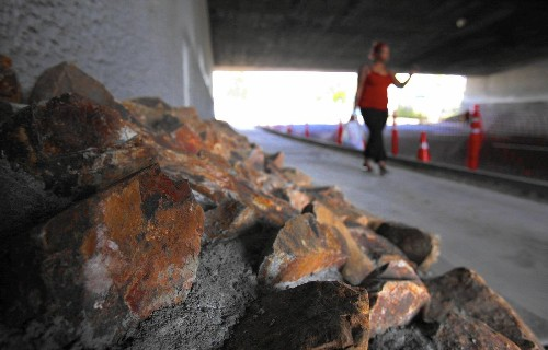 Rocks placed below San Diego overpass to deter camps: 'We're not anti-homeless. We're pro-resident'