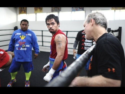 Freddie Roach is betting on Manny Pacquiao, at least figuratively