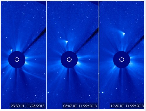 Has comet ISON survived its solar flyby?