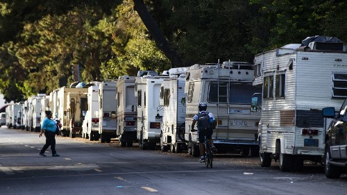 In Google's Mountain View backyard, RV living becomes a desperate act