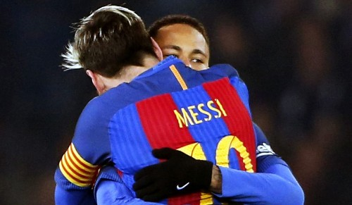Soccer star Neymar explains how Barcelona teammate Lionel Messi saved his career